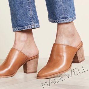 NIB Madewell Harper cream leather mule slides 9.5